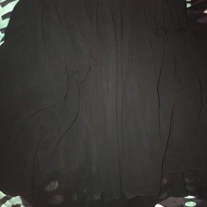 Torrid chiffon mini skirt